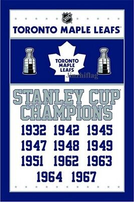 Toronto Maple Leafs Champions Flag Banner New 3x5FT NHL, free shipping