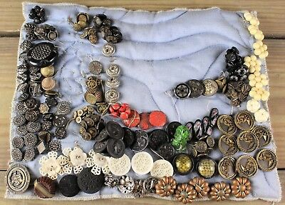 Large Collection Of Antique Victorian Buttons No Reserve
