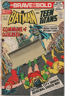 The Brave And The Bold  # 102   Bronze  Age  Dc   Vfn  Teen Titans