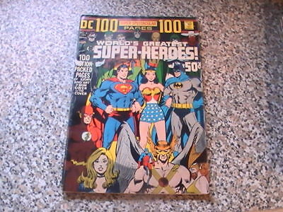 Dc 100 Page Spectacular # 6  Worlds Greatest Super Heroes  1971  Fn / Fn+