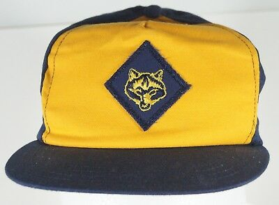 Cub Scout Wolf Hat Ball Cap Official BSA Snapback Yellow Blue Boy Scouts