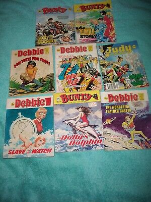 BUNTY/JUDY/DEBBIE/MANDY PICTURE STORY LIBRARY BOOKS x 8 from 1970's/80's/90's