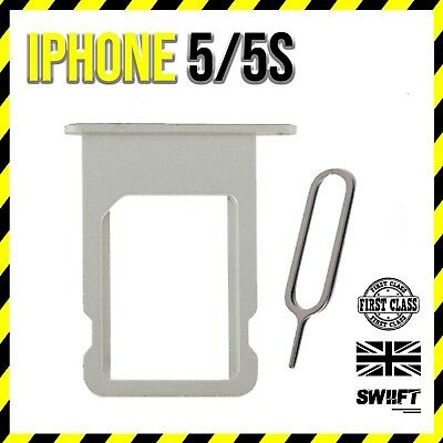 NEW iPhone 5/5s   Sim Card Tray Holder Replacement   Silver White