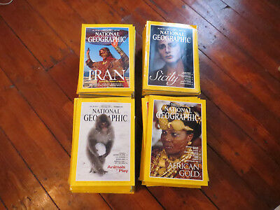 National Geographic Magazines 86 Editions 1994 - 2000 Good Condition
