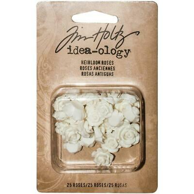 Tim Holtz Idea-Ology - Resin - Heirloom Roses - 25 Pieces