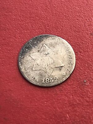3c Three Cents 1852 3 Cent Silver Trime