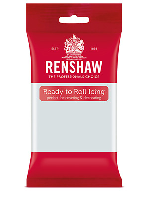 Renshaw Professional Sugar Paste Ready to Roll Icing - Cool Grey - 250g