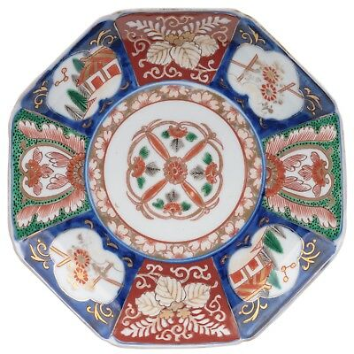 An Antique Octogonal Japanese Porcelain Imari Cabinet Plate