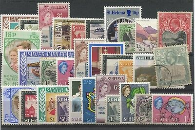 """ST.  HELENA  -  30  Stamps  """"  ALL   DIFFERENT  """" ."""