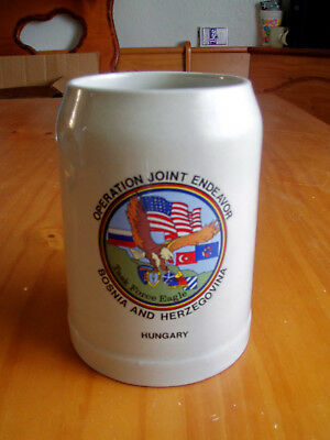 Military Beer Stein Mug Operation Joint Endeavor 1995-97 Made In Germany