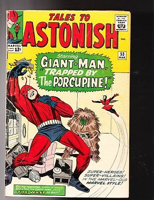 Tales To Astonish 53 Vg + Clean Giant Man Wasp Origin Porcupine Ant Ships In Box