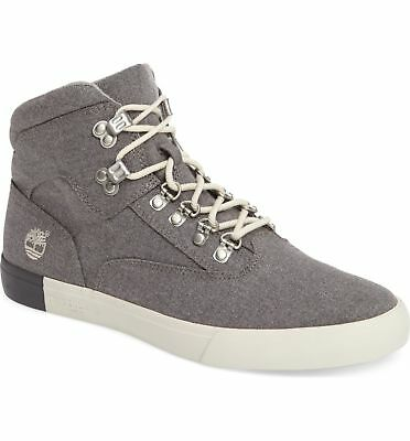 abc2234f9 Timberland Men's Newport Bay Thread Gray Canvas Sneakers Boots Shoes A1A4E  Usa