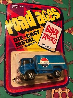 Vintage Road Aces Super Trucks Pepsi Cola Advertising Die-Cast Delivery Truck