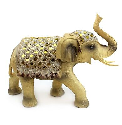 "8"" Tall Elegant Elephant Trunk Statue Wealth Lucky Figurine Home Decor Feng Shui"