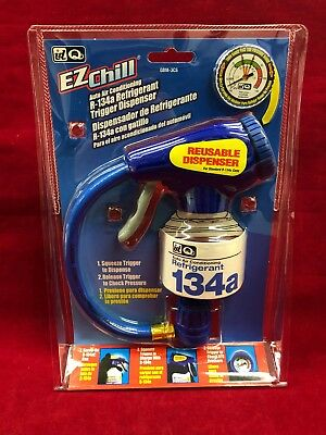 New Interdynamics EZ Chill R134a Refrigerant Trigger Dispenser W/ Gauge GBM-3CS