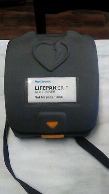 Medtroic Lifepak CR-T AED trainer very lightly used comes with case unused pads