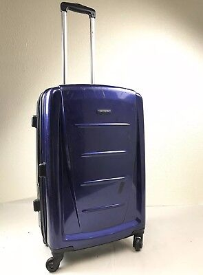"Samsonite Luggage Winfield 2 Fashion 24"" Spinner Hardside Suitcase Deep Blue"