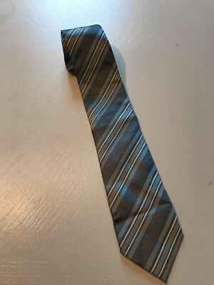 "Hugo Boss Mens Neck Tie 58"" Striped  Made In Italy"