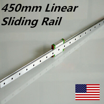 DIY  MGN12H Linear Sliding Rail Miniature Guide Block 450mm For 3D CNC Machine
