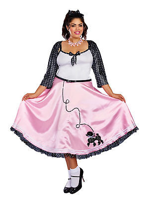 Plus Size Retro Style Poodle Skirt 50's Inspired Costume Dress