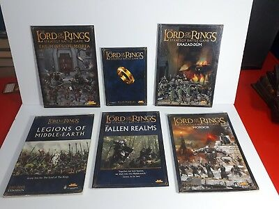 Lotr Lord of the Rings Strategy Battle game book lot - Games Workshop