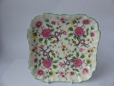 """Antique James Kent, Old Foley Vanity Tray """"Chinese Rose """" Pattern"""