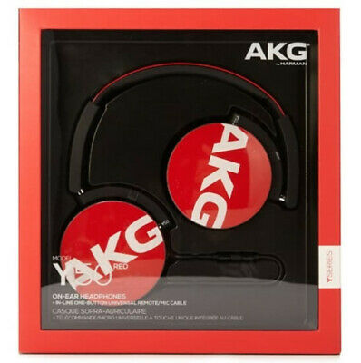 New AKG Y50 On-Ear Headphones Portable Foldable Mic Detachable Cable In-line RED