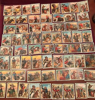 Lot of 92 Vintage Hassan Cowboy Series Cigarette Tobacco Cards