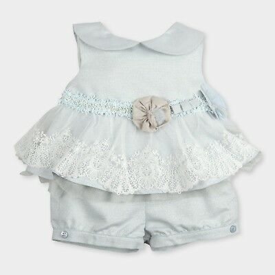 Tutto Piccolo Beautiful  Dress And Shorts Set Age 12 Months