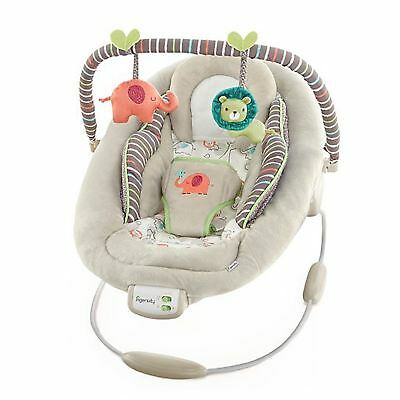Ingenuity Cradling Baby Bouncer Vibrating 7 Soothing Melodies Cozy Kingdom New
