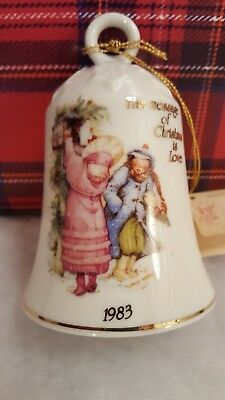 Collectible Holly Hobbie Porcelain Bell 1983