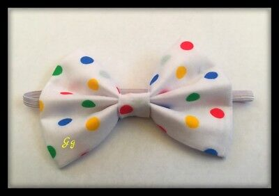 Kids Clown Bow Tie Multicoloured Spotty Costume Children In Need Pudsey Bear