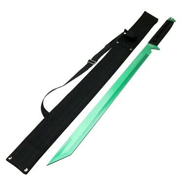 "26"" Green Ninja Sword Stainless Steel with Sheath"