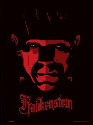 Tom Whalen - Frankenstein Print Universal Classic Monsters Limited & Signed