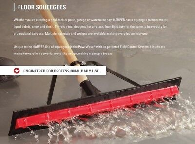 "New Harper 5324224P1 24"" PowrWave Unassembled Rubber Floor Squeegee in a Box"