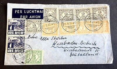 old used envelope 1936 with 12 stamps - Dutch India