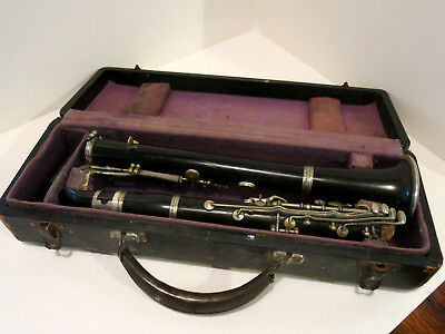 "Vintage Hard Plastic Clarinet ""Boston Wonder"" Student Model ca. 1940 - Bettoney?"