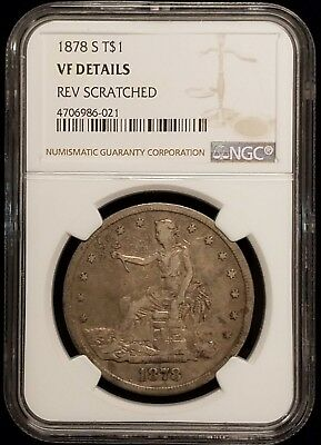 1878-S Trade Silver Dollar $1 NGC VF Details