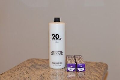 (1) Paul Mitchell 20 Cream Developer and (2) 7P Paul Mitchell The Color