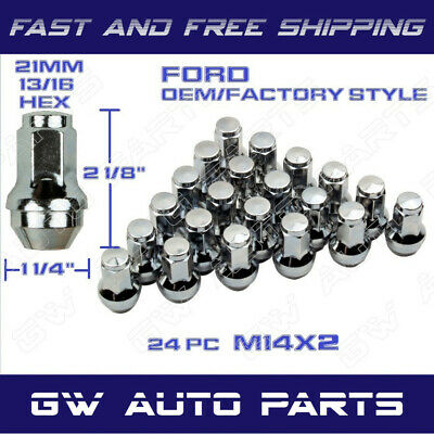 24 PCs FORD OEM / FACTORY STYLE LUG NUTS 14X2.0 FIT F150 EXPIATION 2015-2019