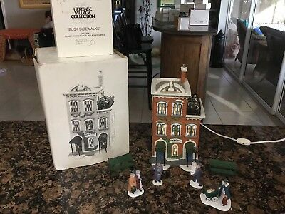 Dept 56 Heritage Village Collection Ivy Terrace Apartments And Accessories