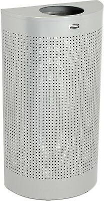 Rubbermaid Silhouette SH12E Half Round Open Top Receptacle W/Liner, 12 Gal. -