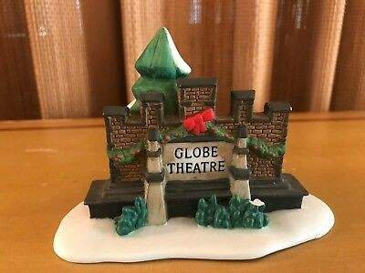 Dept 56 Dickens Village  GLOBE THEATRE Theater SIGN - Replacement Piece