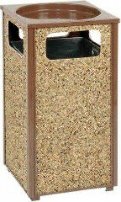 Global Industrial Stone Panel Trash Sand Urn Brown 17-1/2' Square X 32'H