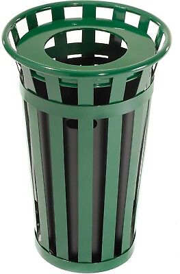 Global Industrial Outdoor Metal Waste Receptacle - 24 Gallon Green