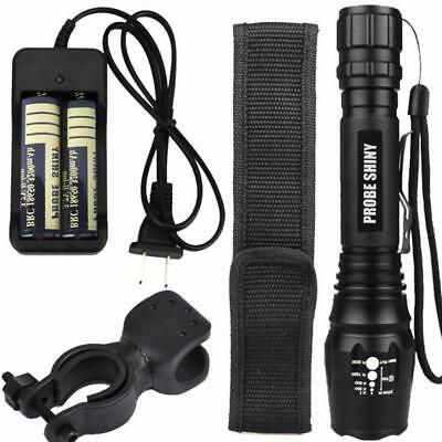 5000LM XM-L T6 LED 18650 Tactical Flashlight Torch Lamp Outdoor Charger Lamp