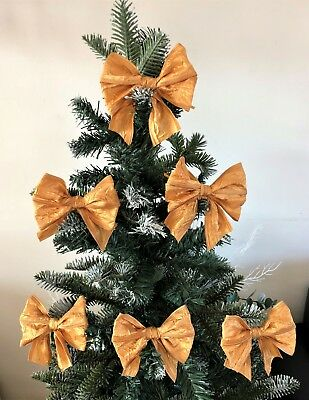 3 or 6 bows per pk Gifts Christmas Tree Bows with ties,Mint Green packaging 1