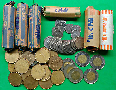 Odd Lot of $72 Face Value Canada Coins Spendable Pounds of Fun bulk kilo kg bag