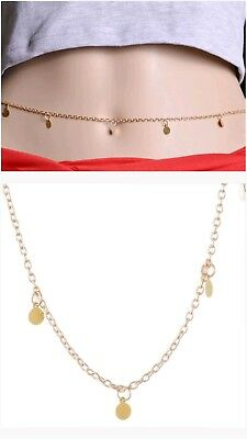 Fashion Gold Pendant Body Belly Chain