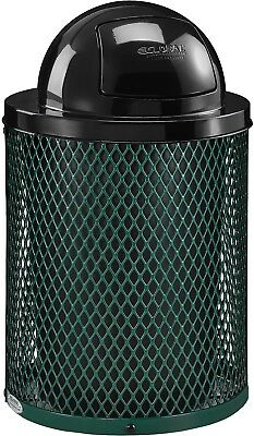Global Industrial Thermoplastic Coated 32 Gallon Mesh Receptacle W/Dome Lid -